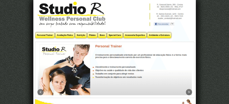 Web site :: Studio R Personal Club :: v.1.0